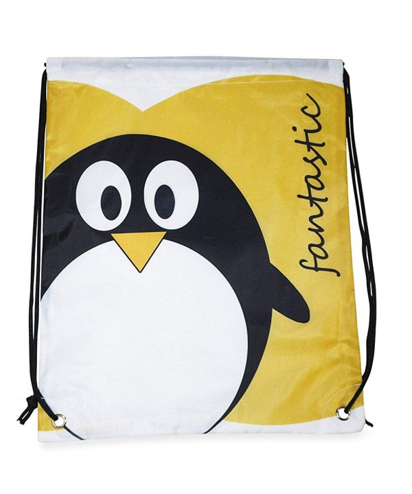 Private Label Penguin Drawstring Backpack