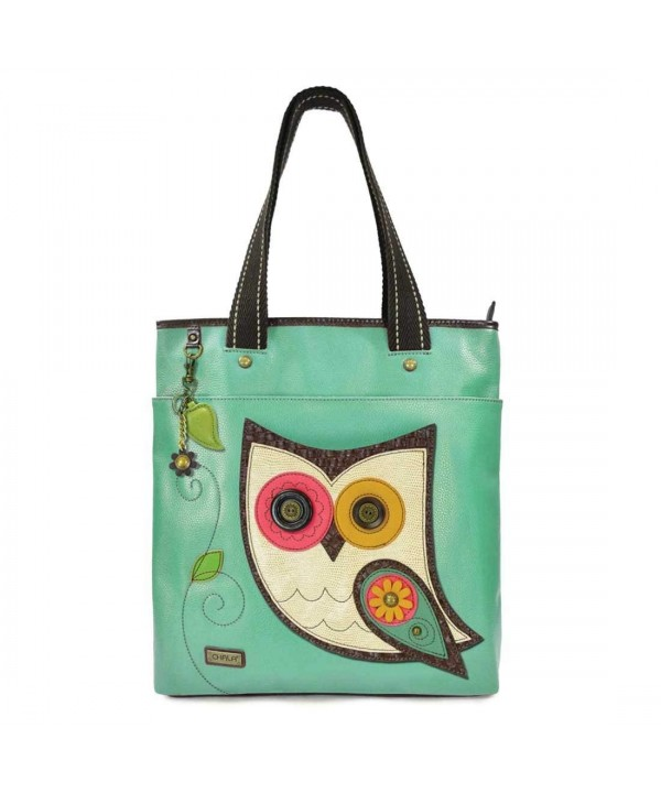Everyday Detachable Leather Handles Teal Owl