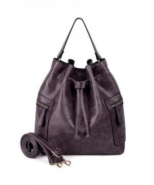 UTO Drawstring Crossbody Shoulder Handbag
