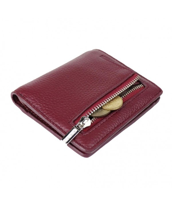 Womens Leather Compact Bifold Pocket