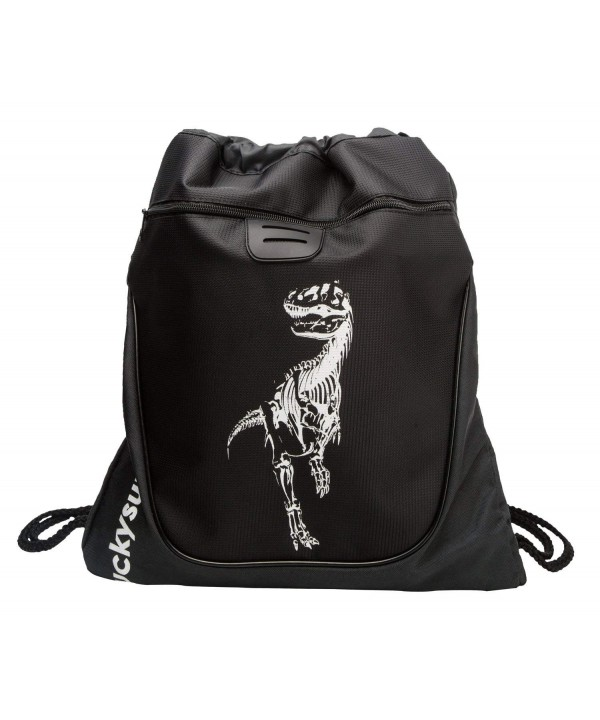 LUCKYSUN Dinosaur Drawstring backpack