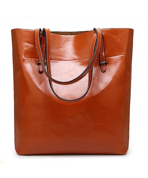 Zbella Womens Leather Shoulder Orange