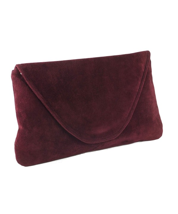 Attractive Suede Shoulder Occasion burgundy