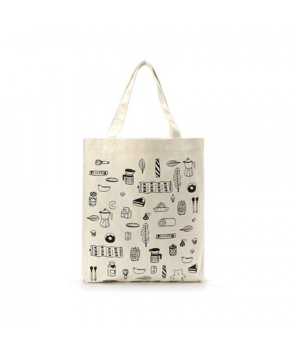Canvas Interior Pocket Reusable Shoulder