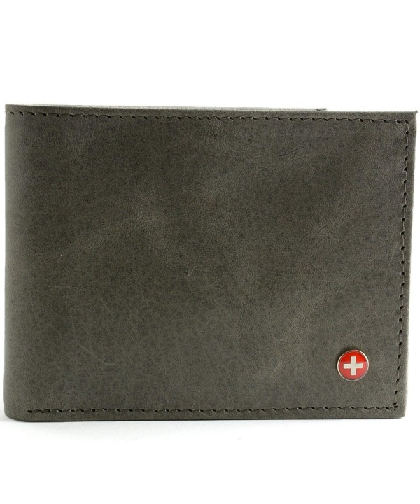 Alpine Swiss Leather Wallet Flipout