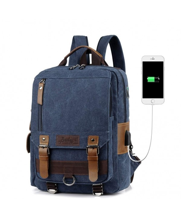 Badiya Messenger Shoulder Backpack Charging