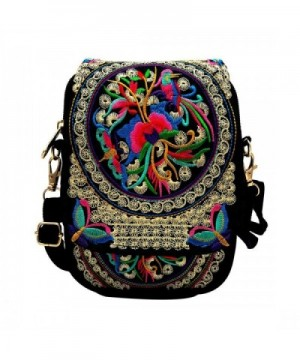 Tofantifer Crossbody Embroidered Embroidery Flowers Small 2