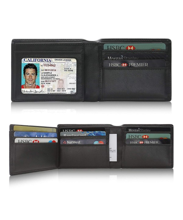 Wallets SHARKACE Blocking Trifold Capacity