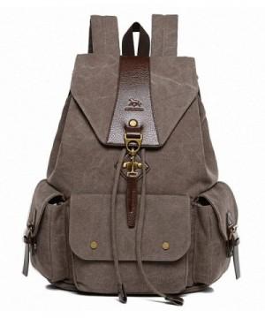 MANJH Canvas Backpack Rucksack Daypack