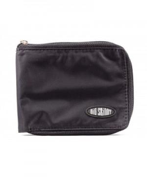Big Skinny Zippered Bi Fold Wallet