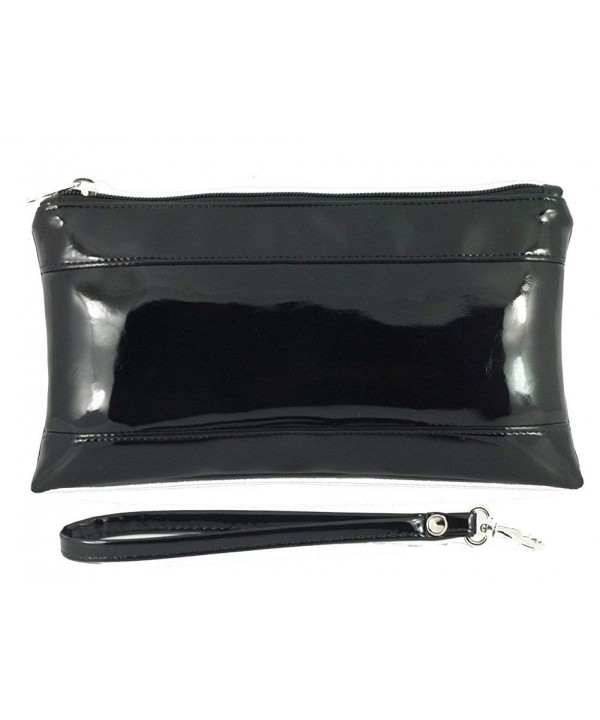 Womens Adorable Patent Clutch Detachable