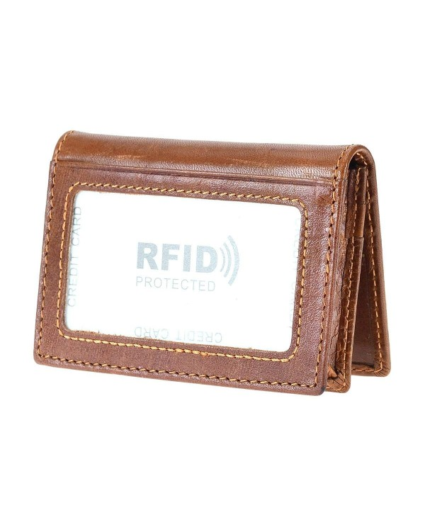 Genuine Leather Wallets Blocking Bifold