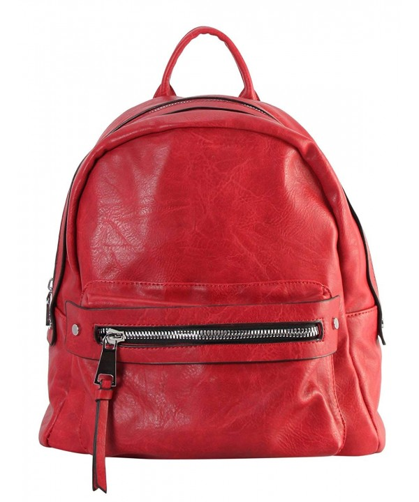 Rimen Leather Zipper Backpack GS 6386