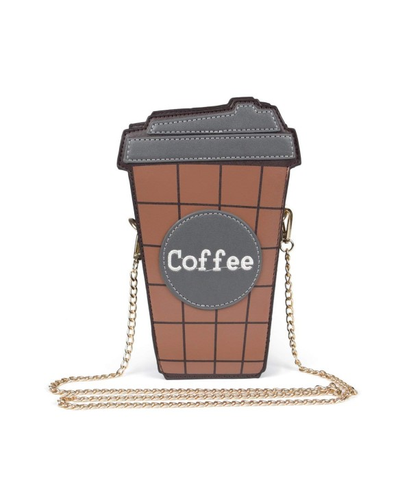 SUKUTU Coffee Crossbody Chains Purses