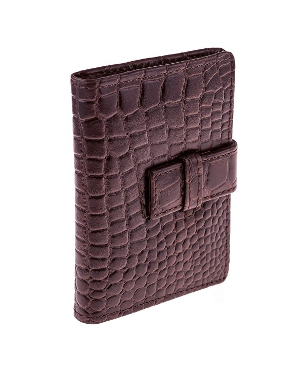 Wallet Style Holder Weston Leather Crocodile