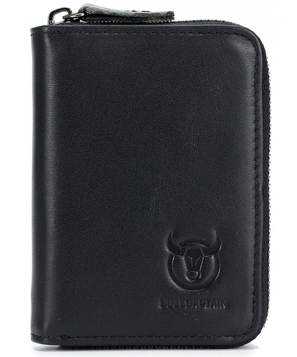 Genuine Leather Wallet Holder Zipper