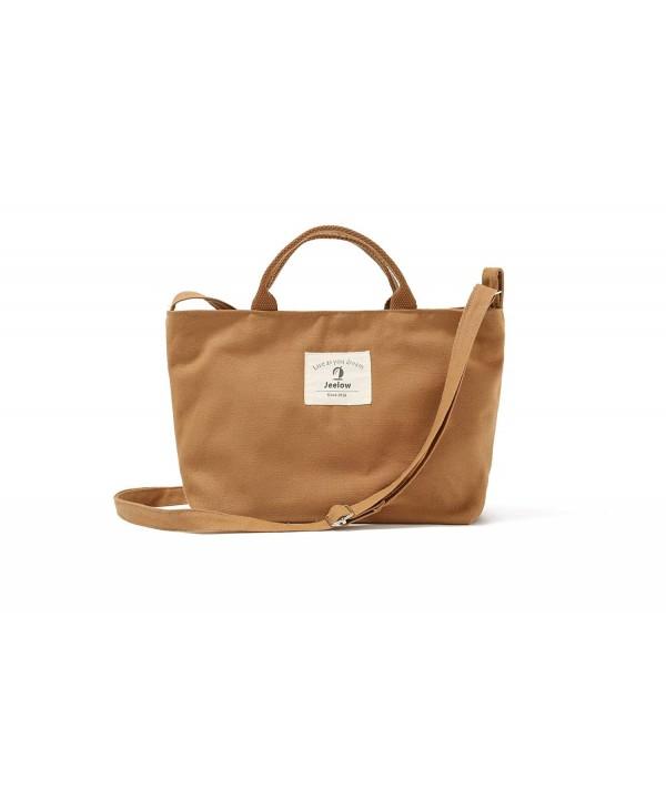 Canvas Handbag Shoulder Small Khaki