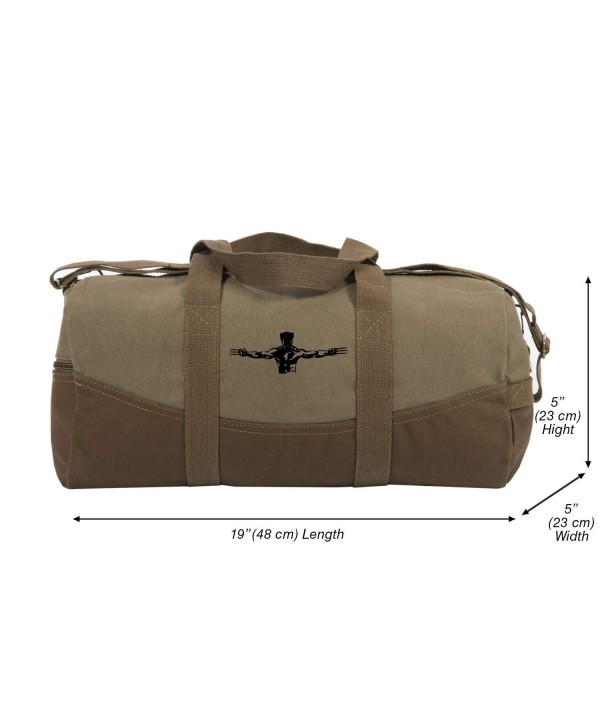 Wolverine Canvas Duffel Brown Detachable