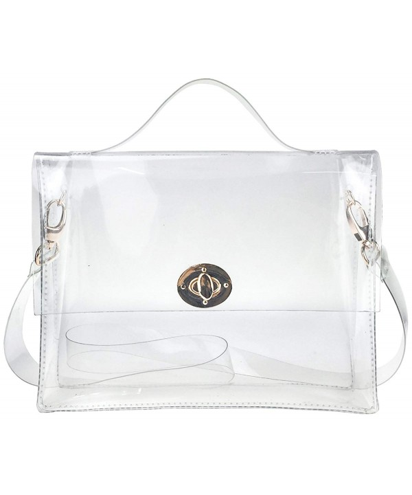 Closure Satchel Transparent Messenger Shoulder