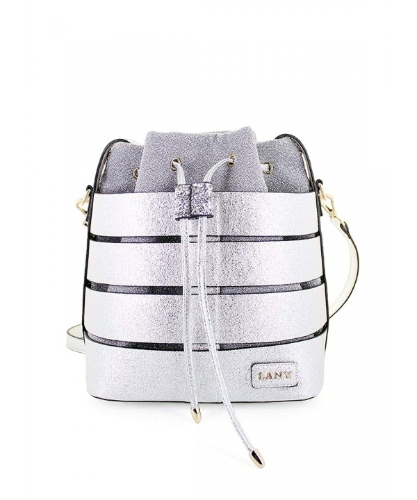Textured Metallic Detachable Handbag Crossbody