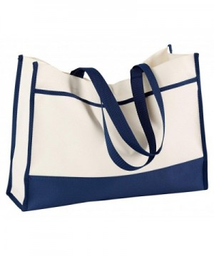 Gemline Contemporary Tote Natural Navy