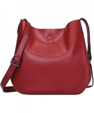 S ZONE Leather Crossbody Simple Shoulder
