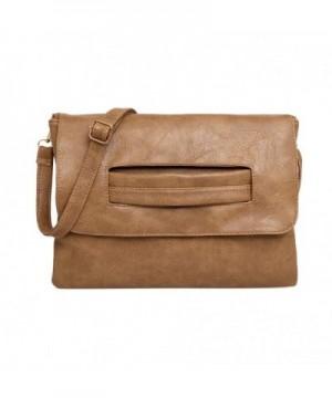 Leather Capacity Handbag Envelope Shoulder