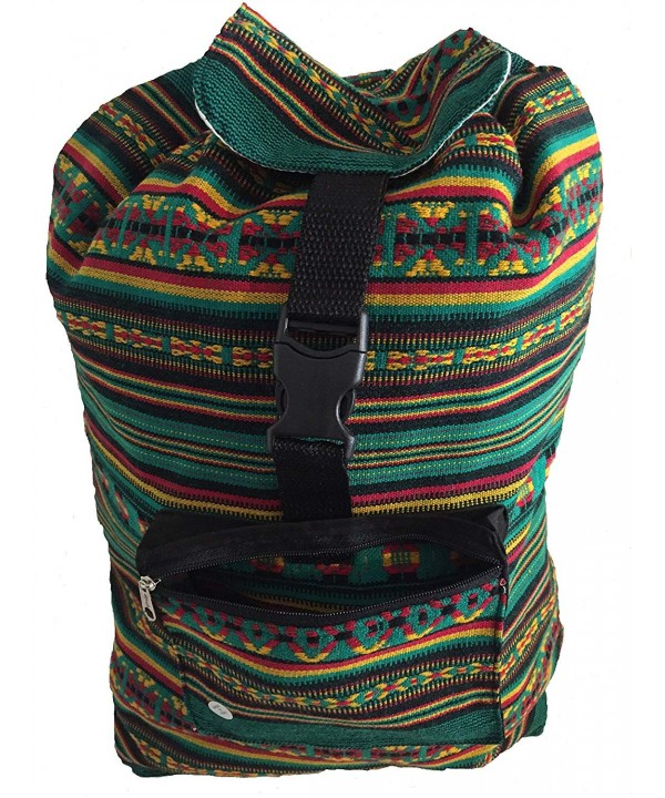 Rasta Beach Backpack Rasta Green Stripes