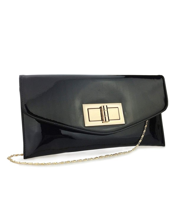 Hoxis Envelop Leather Evening Handbag