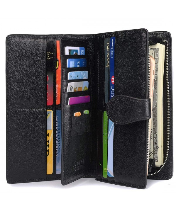 Blocking Leather Wallet Trifold Organizer