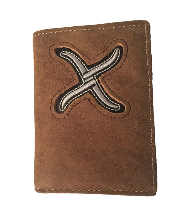 Twisted Leather Tri fold Wallet Imprint