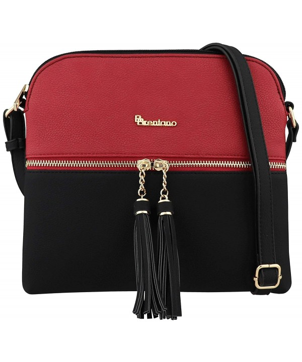 BRENTANO Lightweight Crossbody Tassel Accents