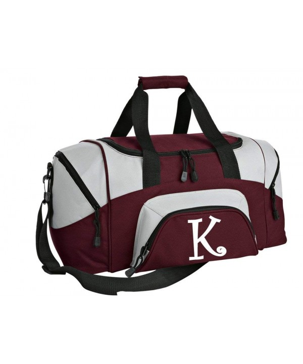Personalized Monogrammed Duffel Printed Initial