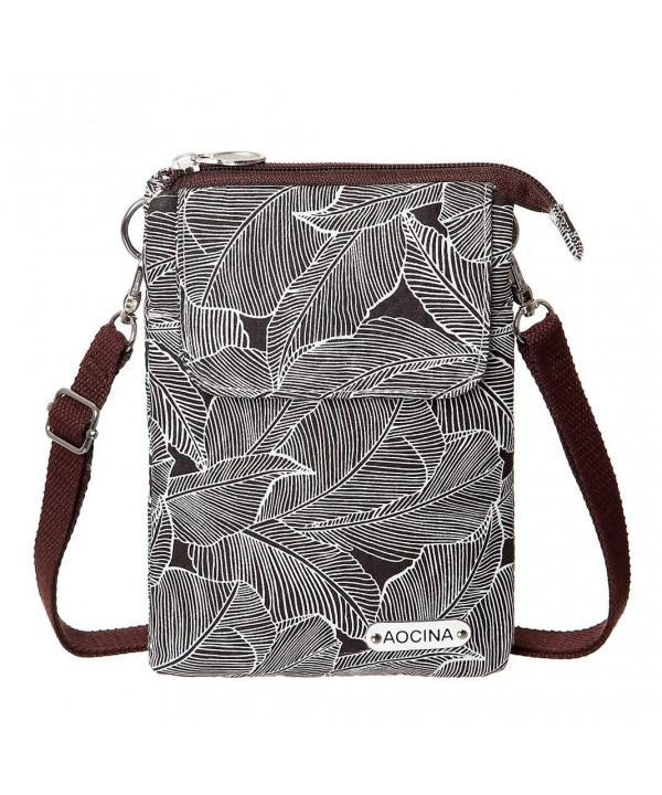 Wallet Canvas Pattern Crossbody Coffee
