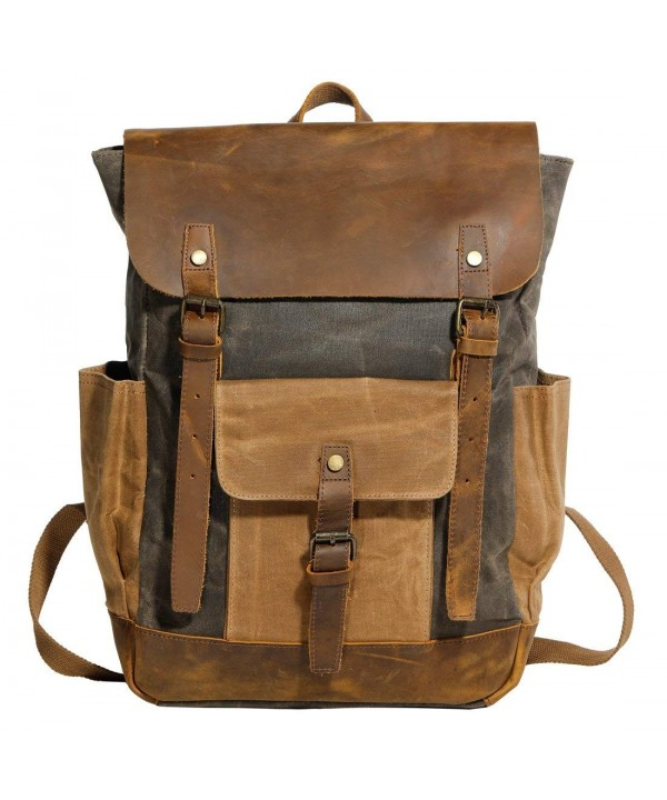Partrisee Vintage Leather Backpack Rucksack