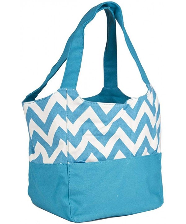 Ever Moda Chevron Canvas Purse