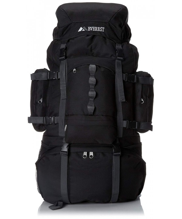 Everest Deluxe Hiking Pack Black