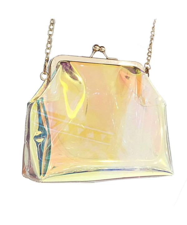 Clear Transparent Holographic Womens Evening