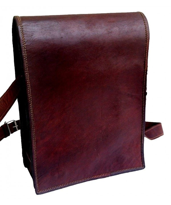 Genuine Leather Vintage Verticle Messenger