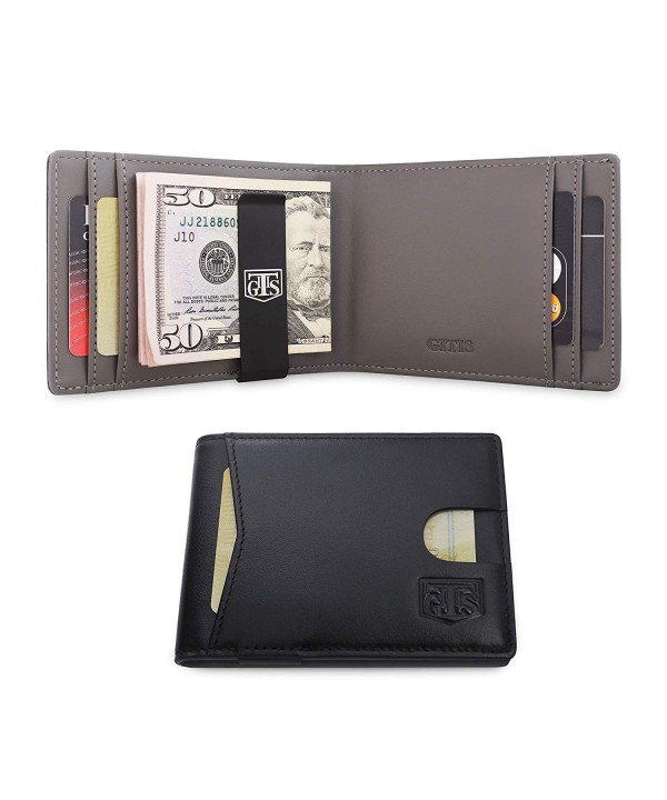 Slim Wallets Men Genuine Blocking