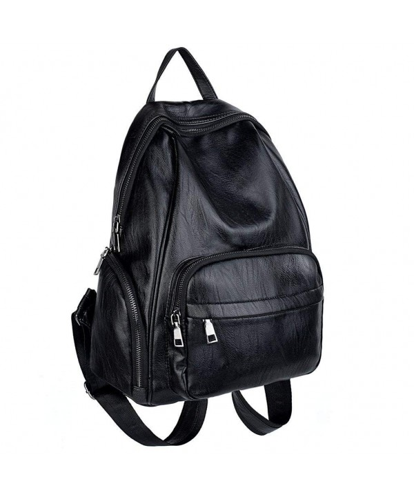 UTO Backpack Leather Rucksack Shoulder