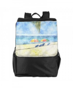 Tropical Watercolor Backpack Daypacks Shoulders