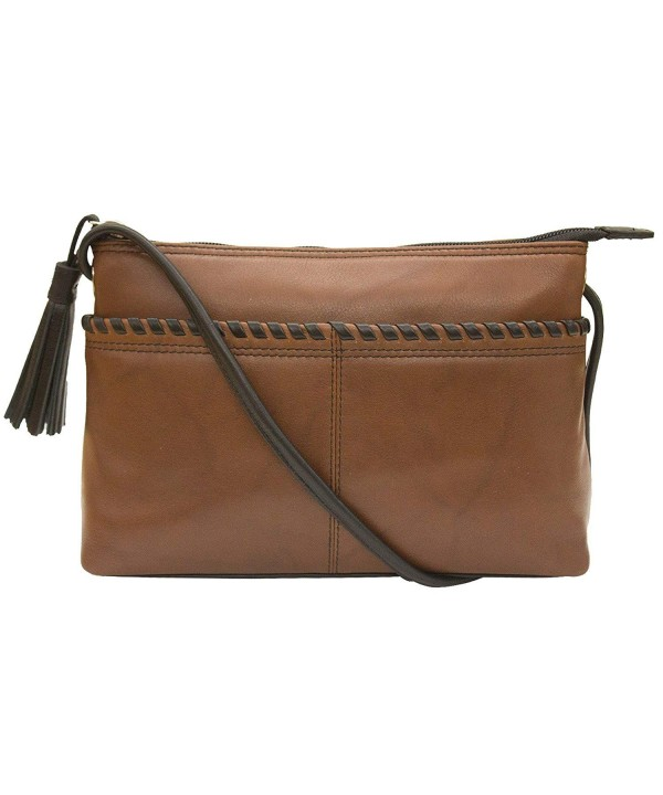 ili Leather East West Whip stitch Crossbody