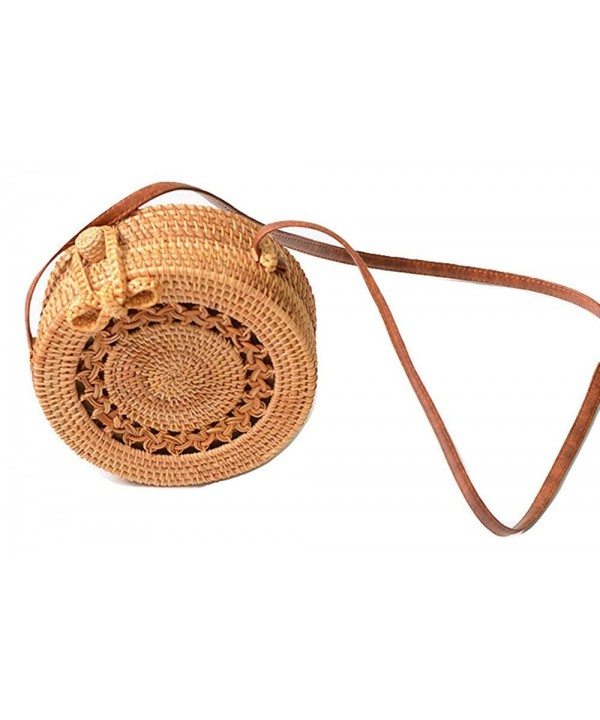 FIV Tropic Handwoven Rattan Bag Linen Inside