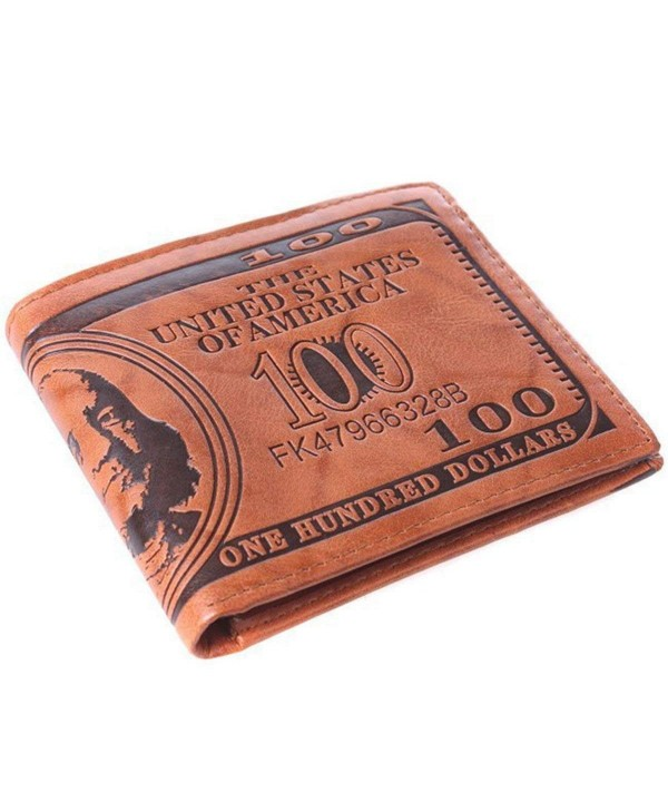 HENGSONG Dollar Wallet Leather Billfold