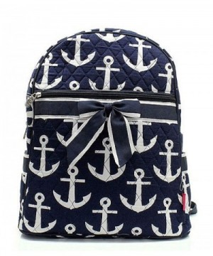Nautical Anchor Quilted Backpack Handbag