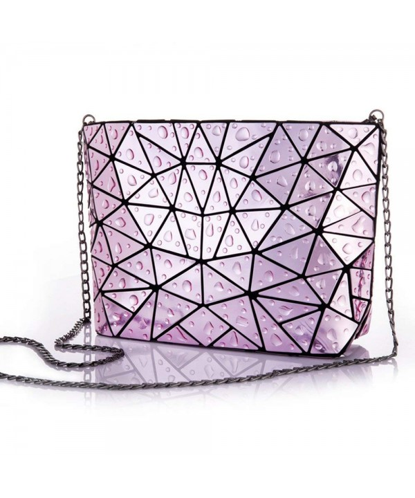 HotOne Geometric leather crossbody clutch