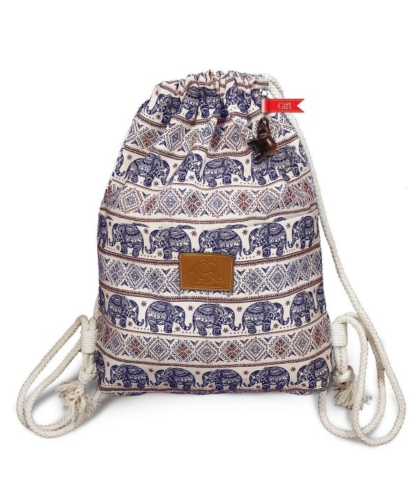 Thailand Elephant Print Drawstring Medium