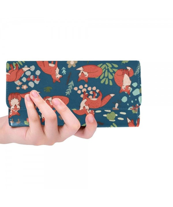 Forest Custom Womens Trifold Wallets