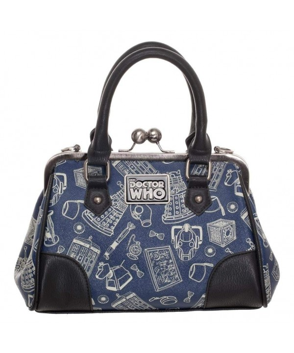 Doctor Scribble Kisslock Handbag Satchel